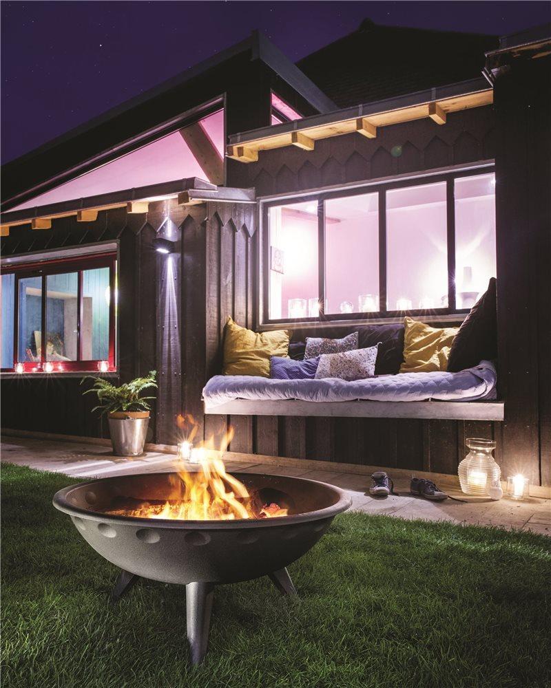 Braciere da giardino in ghisa con griglia e porta cenere - Nascondere griglia giardino ...