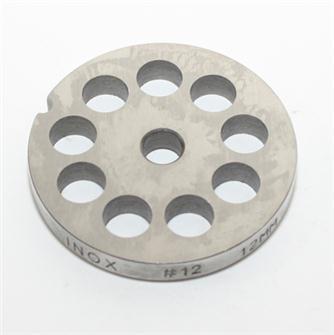 Piastra 12 mm inox per tritacarne n.12