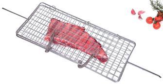 Spiedo griglia grande per pesce, costolette, salsicce ecc.
