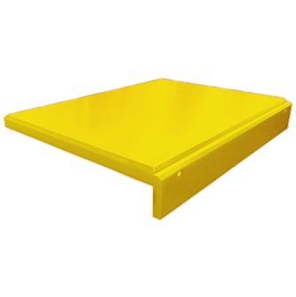 Tagliere giallo in polietilene con bordo