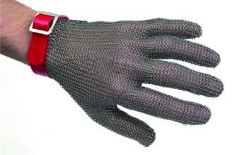 Guanto in maglia inox tg. 7 e 7,5