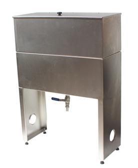 Cisterna inox per filtraggio olio, con filtro in c