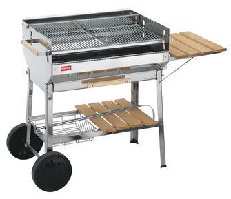 Barbecue inox con griglia grande