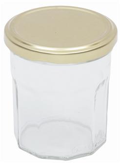 Vasetti per confettura da 370 g. Set da 16 pz. consegnati con capsule.