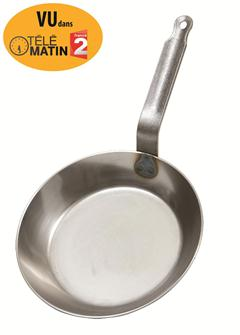 Padella per friggere in acciaio, 28 cm