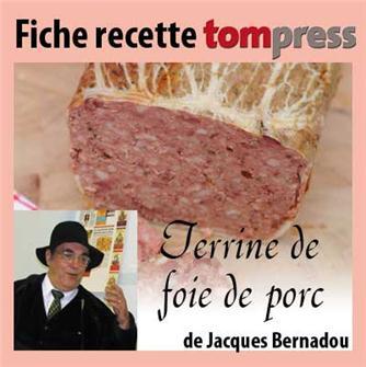 Ricetta del paté di fegato di maiale di J. Bernadou