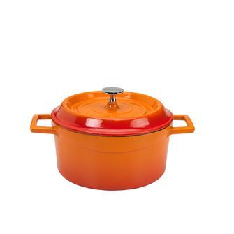 Cocotte rotonda colore arancio 20 cm