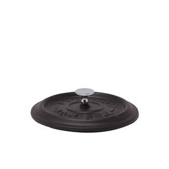 Coperchio rotondo color nero opaco in ghisa