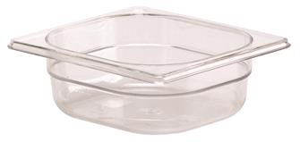 Bacinella per alimenti senza BPA GN h.6,5 cm in co