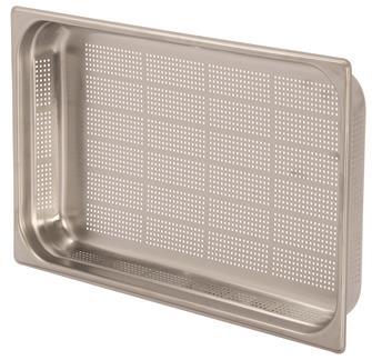 Bacinella per alimenti inox perforato GN 1/1 h. 6,5 cm EN-631