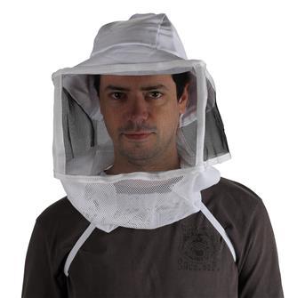 Velo quadrato con cappello da apicoltore