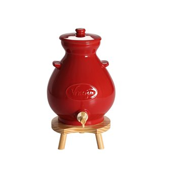 Acetiera in gres rossa 4,5 litri
