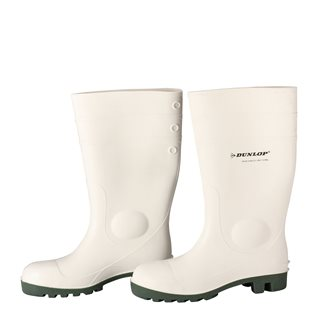 Stivali bianchi DUNLOP n.44 per laboratorio agroalimentare