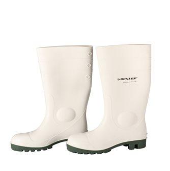 Stivali bianchi DUNLOP n.45 per laboratorio agroalimentare