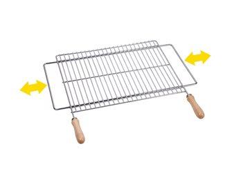 Griglia barbecue 50x40 cm inox supporto espandibile