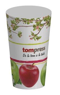 Bicchieri riutilizzabili Tom Press disegno mela