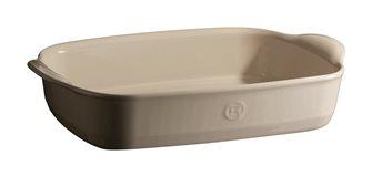 Pirofila quadrata 23,5 cm in ceramica color argilla.