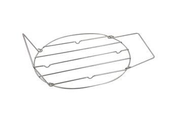 Griglia inox per rostiera 42 cm con maniglie