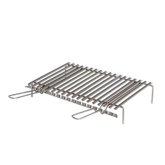 Griglia inox per barbecue con recuperatore di grassi 50x35 cm
