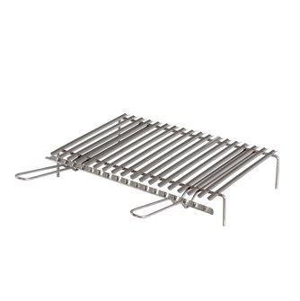 Griglia inox per barbecue con recuperatore di grassi