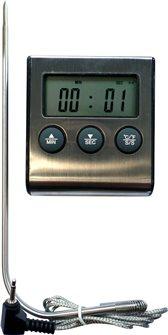 Thermomètre pour four avec sonde inox et minuteur