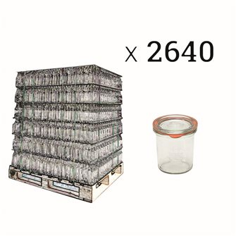 Verrines Weck 140 ml par palette de 2640