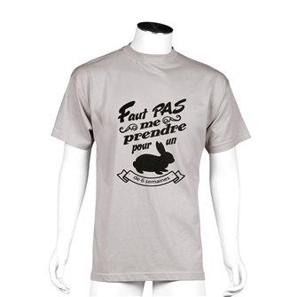 T-shirt uomo fango Bartavel Nature stampa umoristica coniglio L