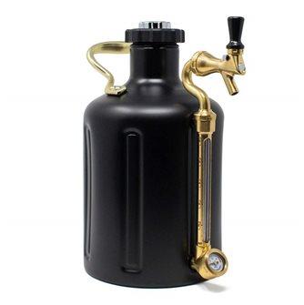 Fusto inox a pressione nero mat 3,8 litri doppia parete
