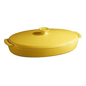 """Piatto """"cartoccio"""" giallo Provence Emile Henry ceramica"""