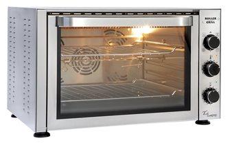 Four 38 litre pâtissier 270°C 2 500 W avec grilles lèchefrite et tournebroche