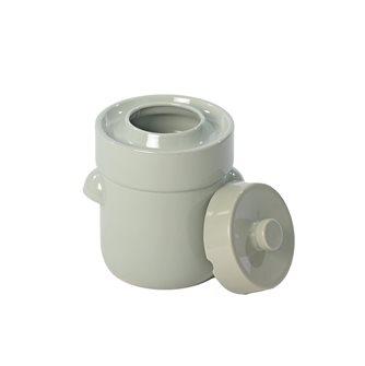 Vaso per crauti /lattofermentazione 3 litri colore verde acqua