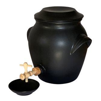 Acetiera in ceramica 4,8 litri con tazza Emile Henry nero opaco