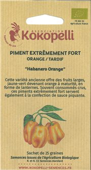 Graines de piment Habanero Orange