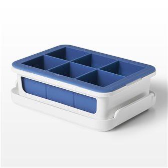 Stampo in silicone 6 grandi cubetti di ghiaccio + coperchio