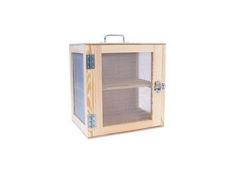 Dispensa per alimenti legno naturale 40x40x30 cm