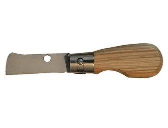 Coltello per innestare pieghevole manico in quercia