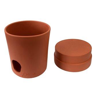 Brique à vin rafraîchisseur cache-cubi pour bag in box bib fontaine à vin ou jus de 3 litres en terre cuite